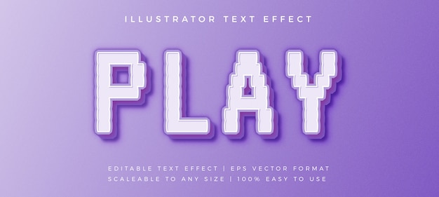 Gaming pixel text style font effect