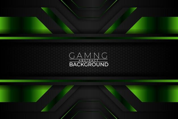 Gaming streszczenie tło ciemny zielony styl