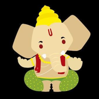 Ganesh Bóg Ilustracja
