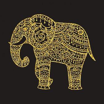 Ganesh wzór tła