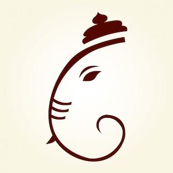 Ganesha Rysunek Sylwetka