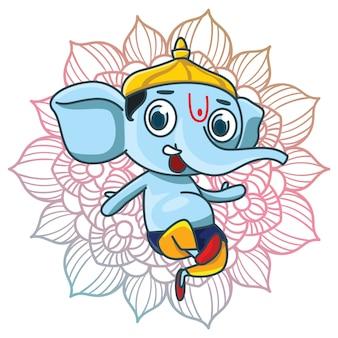 Ganesha wzór tła
