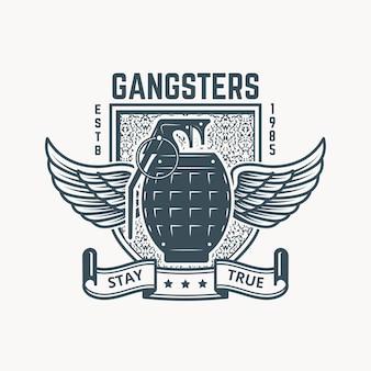 Gangsters badge