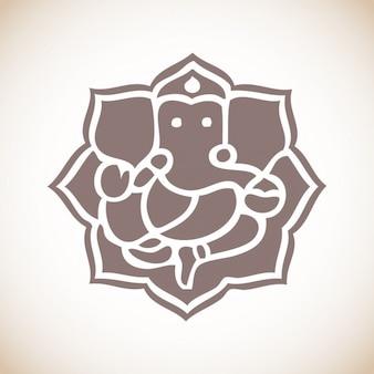 Ganpati Ganesha Ilustracja
