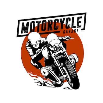 Garaż ilustracja motocykl