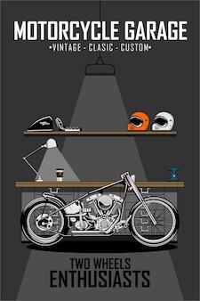 Garaż motocyklowy chooper
