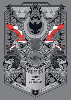 Garuda pancasila ilustracji