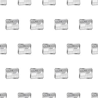 Gazeta bezszwowe wzór. codzienna ilustracja tematyczna wiadomości
