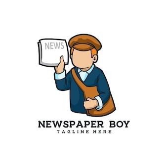 Gazeta chłopiec retro młode media informacyjne