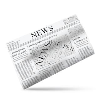 Gazeta Ilustracji Wektorowych Ikonę Szablonu Premium Wektorów