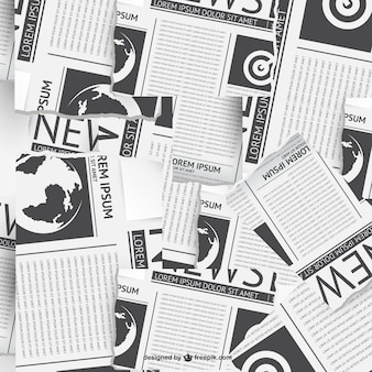 Gazeta wektora collage