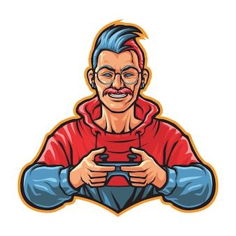 Geek gamer esport