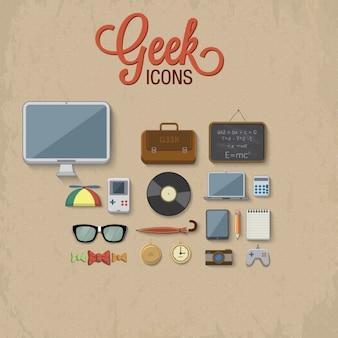 Geek ikony kolekcji