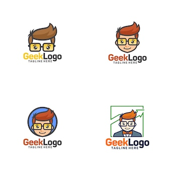 Geek logo szablon wektor