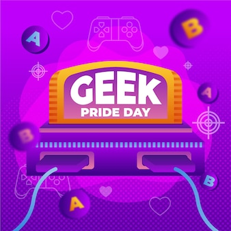 Geek pride day retro konsola do gier