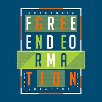 Generacja wolności typografia fajna grafika