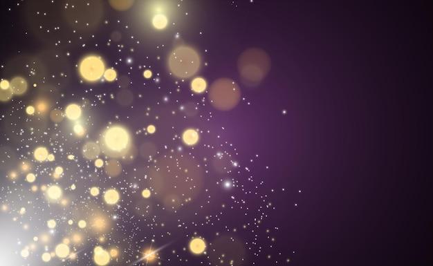 Genialny złoty pył wektor połysk błyszczące błyszczące ozdoby na tle ilustracji wektorowych