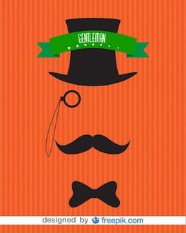 Gentleman niewidoczne mężczyźni rocznika projekt plakatu