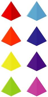 Geometria kształtu trójkąta w wielu kolorach