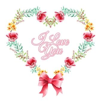 Geometria miłość wieniec kwiatowy