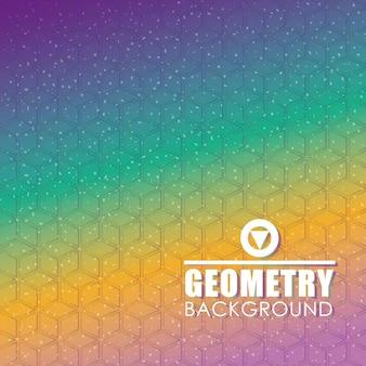 Geometrii tapeta lub tło, wektorowa ilustracja eps10