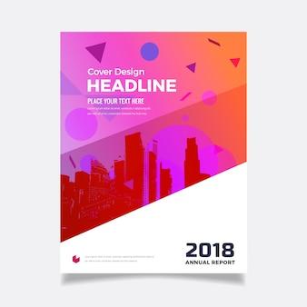 Geometryczna broszura biznesowa