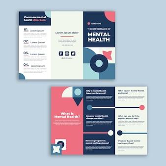 Geometryczna broszura kliniki zdrowia psychicznego