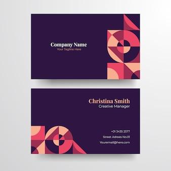 Geometryczna elegancka wizytówka. elegancka minimalistyczna złota wizytówka.