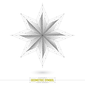 Geometryczna gwiazda symbol wektor ilustracja