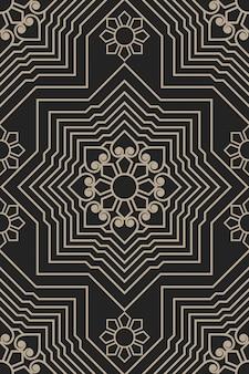 Geometryczna ilustracja zentangle