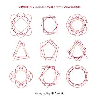 Geometryczna kolekcja złota róża rama