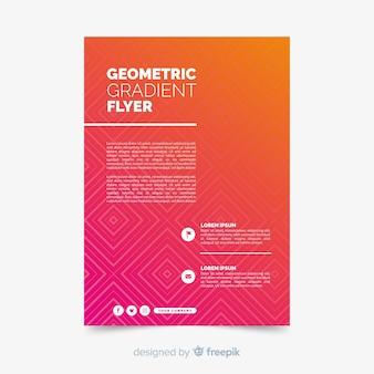 Geometryczna kolorowa gradientowa plakatowa kolekcja