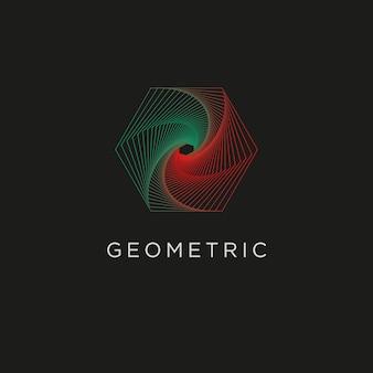 Geometryczna linia sztuki minimalne logo gradientowe kształty i abstrakcyjne symbole