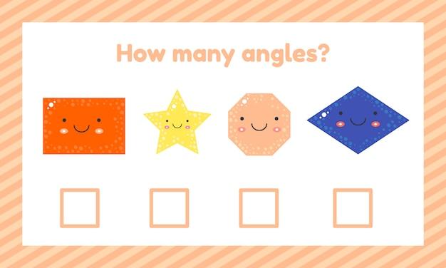 Geometryczna logiczna gra edukacyjna dla dzieci w wieku przedszkolnym i szkolnym.