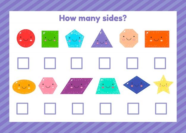 Geometryczna logiczna gra edukacyjna dla dzieci