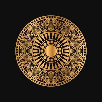 Geometryczna mandala w złotym kolorze
