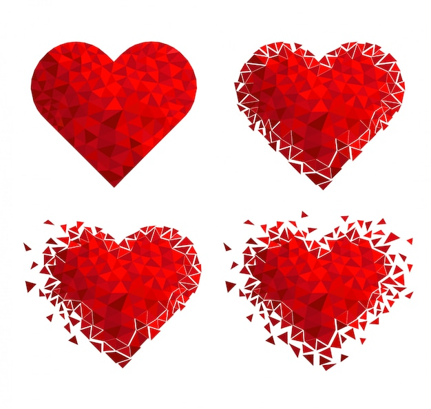 Geometryczna mozaika serce. walentynki. konfetti glitter love