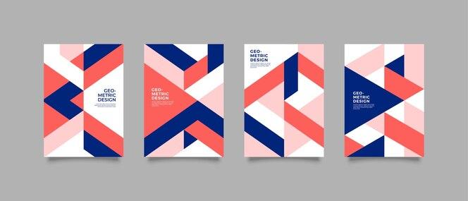 Geometryczna okładka minimalistyczny design