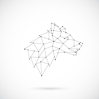 Geometryczna sylwetka wilka