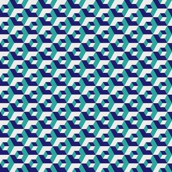 Geometryczna sześciokątna, tekstura siatki w kolorze zielonym, bez szwu sześciokąt