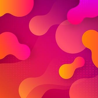 Geometryczna tapeta. skład płynnych kształtów gradientowych. futurystyczne plakaty. abstrakcyjne tło.