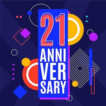 Geometryczne 21 rocznica tło