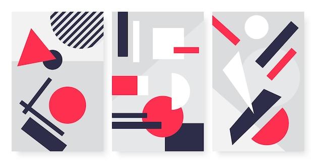 Geometryczne abstrakcyjne kształty nowoczesny prosty wzór sztuki z trójkątnym okręgiem kwadratowym