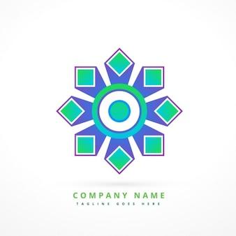 Geometryczne abstrakcyjne logotyp