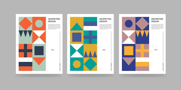 Geometryczne abstrakcyjne okładki