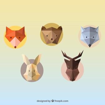 Geometryczne awatary zwierząt