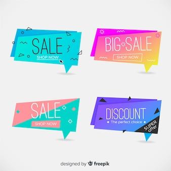 Geometryczne banery sprzedażowe
