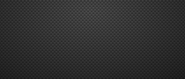 Geometryczne czarne metaliczne tło. maswerk małe kwadraty w maswerku węglowym minimalistyczna abstrakcja stali