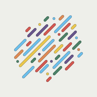 Geometryczne dynamiczne zaokrąglone linie. streszczenie kolorowe tło z paskami na projekt okładki, plakat, karta. ilustracja wektorowa.
