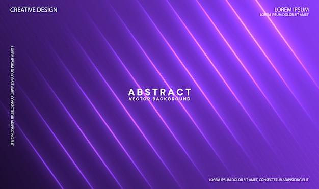 Geometryczne fioletowe tło z dynamiczną linią